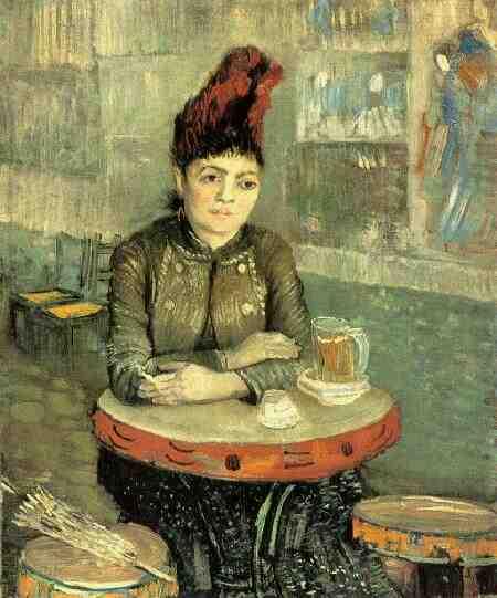 Van Gogh: Agostina Segatori seduta in un caffé, 1887, Museo van Gogh, Amsetrdam, Paesi Bassi