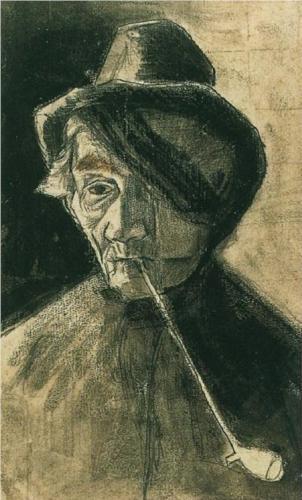 van Gogh: Ritratto d'uomo con occhio bendato e pipa,, Rijksmuseum Kröller-Müller, Otterlo, Paesi Bassi