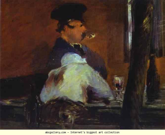 Edouard Manet:  Al barr, 1879, Museo delle Belle Arti Pushkin, Mosca, Russia