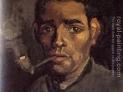 van Gogh: Ritratto di uomo a capo scoperto e pipa , 1884, Museo van Gogh, Amseterdam, Paesi Bassi