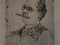 Giovanni Fattori: Ritratto d'uomo col bocchino, Acquaforte