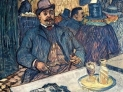 Toulouse Lautrec:  Monsieur Boileau al caffé, 1893, Museo d'arte di Clevaland, USA