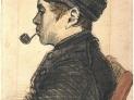 Van Gogh: Ritratto d'uomo con la pipa, 1884, Museo van Gogh, Amsterdam, Paesi Bassi