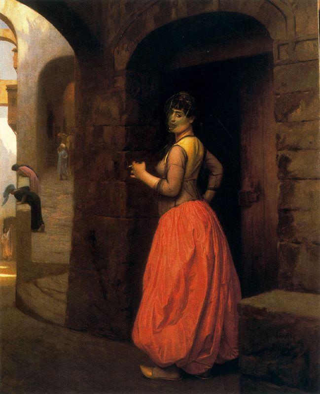 Jean-Leon Gerome: Donna che fuma una sigaretta al Cairo, 1882, collezione privata