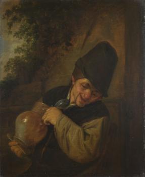 Adriaen van Ostade, Contadino con brocca e una pipa, 1650, Galleria Nazionale, Londra, Gran Bretagna