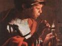 Hendrick ter Brugghen: Ragazzo che accende la pipa, 1623, Museo Istvan Dobo, Eger, Ungheria