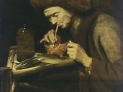 Abraham van Dijck: Una vecchia che fuma la pipa, ca 1650