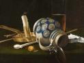 Cornelis Lelienbergh: Natura morta con pipa, 1659, collezione privata