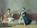 """Jean Etienne Liotard : """"Monseiur Levett and Mademoiselle Giavan in abiti turchi"""""""
