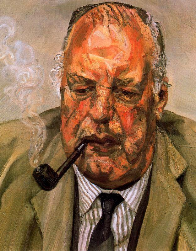 Lucian Freud: Ritratto di uomo che fuma, 1987, collezione privata