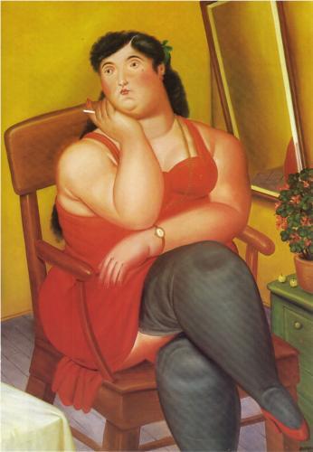 Fernando Botero: La colombiana, 1986